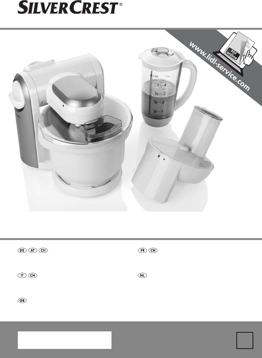 Manuale Silvercrest Skm 550 A1 55 Pagine