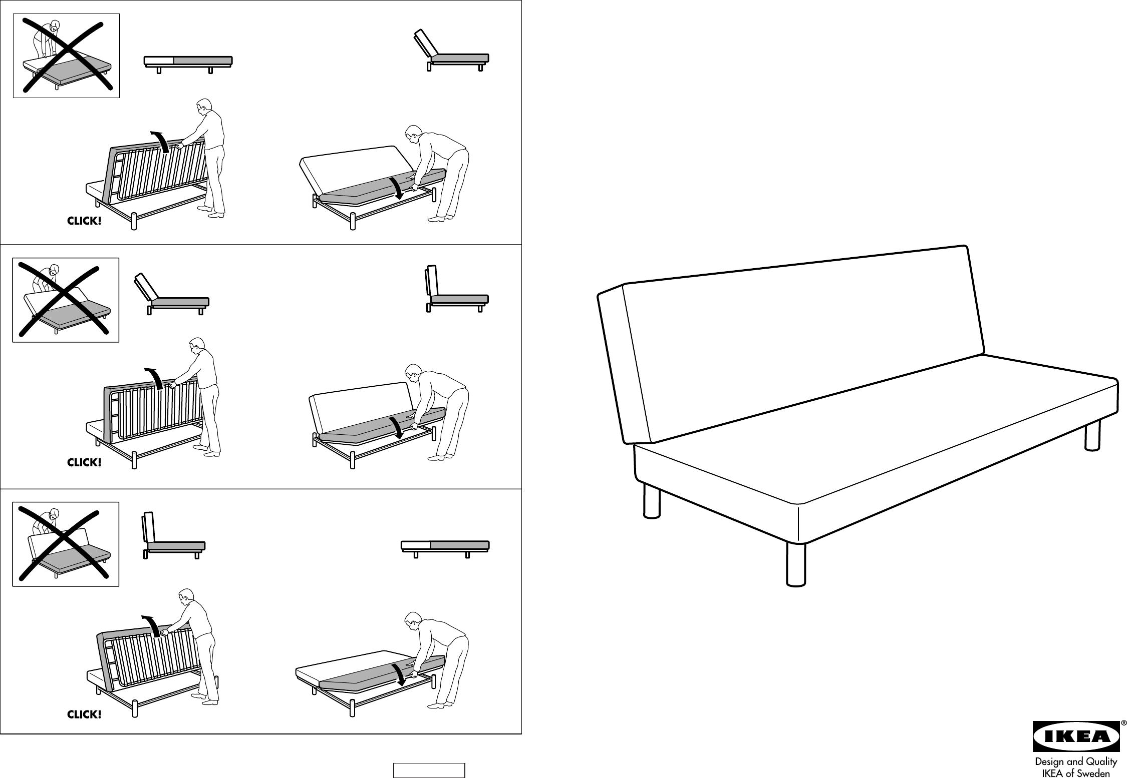Beddinge Divano Letto Ikea.Manuale Ikea Beddinge 4 Pagine